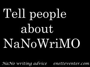 NaNoWriting advice #3